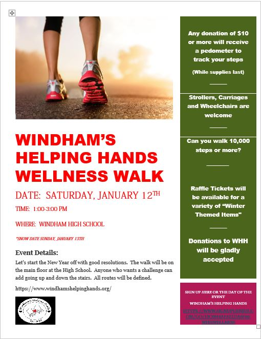 Windham's Helping Hands Wellness Walk